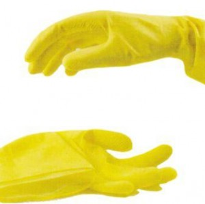 1 Paar Haushaltshandschuhe Gelb Größe M