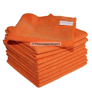 10 x Premium Universal Microfaser Cloth 300g/m² Orange