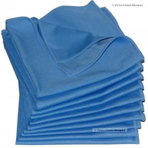 Fenstertücher / Glastücher Blau 300g/m² 10er Set Microfaser