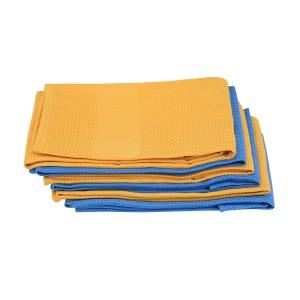 6 Geschirrtuch Küchenhandtuch Microfaser 3 x Orange, 3 x Blau