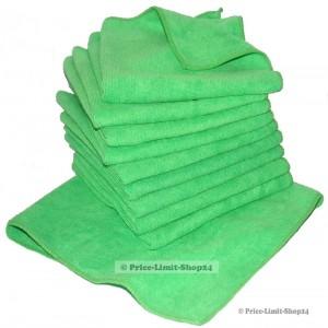 10 x Microfaser Universaltuch Poliertuch Grün 300g/m²