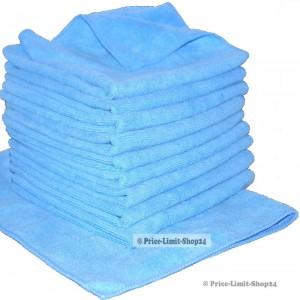 10 x Microfaser Universaltuch Poliertuch Blau 300g/m²