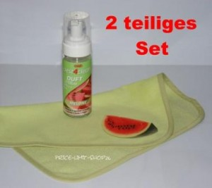 Duft Schaumreiniger Set Melone incl. Spezial Microfaser Reinigungstuch mit Motivdruck