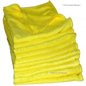 10 x Microfaser Stretch Universaltücher, 280g/m², Farbe Gelb