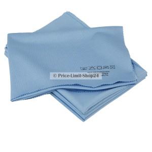 5 x Fenstertuch XL Glastuch Blau 50 x70 cm Microfaser Wave Cut
