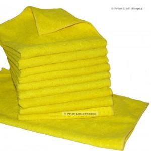 10 x Microfaser Universaltuch Poliertuch Gelb 300g/m²