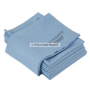 10 x Fenstertuch XL Glastuch Blau 50 x70 cm Microfaser Wave Cut