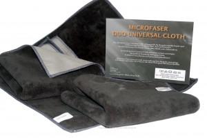 10 x Microfaser Duo Cloth Tücher Anthrazit 40x40cm 550g/m²