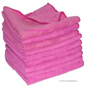 10 x Microfaser Soft Universaltuch Pink 210g/m²