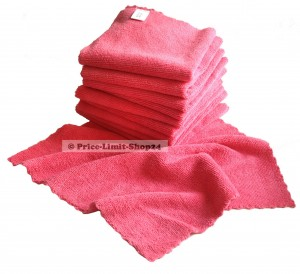 10 x Microfaser Seamless Universal Cloth 320g/m² Rot