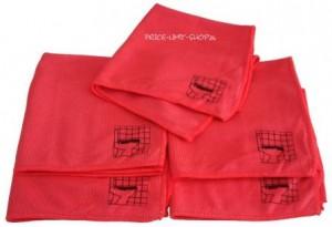5 x Microfaser Noppentücher Rot mit Piktogramm 280g/m²