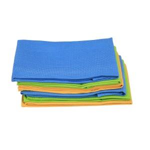6 Geschirrtuch Küchenhandtuch Microfaser 2 x Orange, 2 x Grün, 2 x Blau