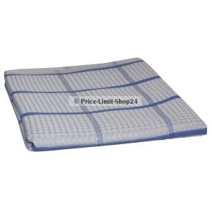 Geschirrtuch Microfaser Weiß Blau kariert 42 cm x 68 cm