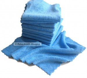 10 x Microfaser Seamless Universal Cloth 320g/m² Blau