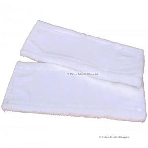 Ersatzbezüge Bodenwischer 2er Set 42 cm Weiß Universal