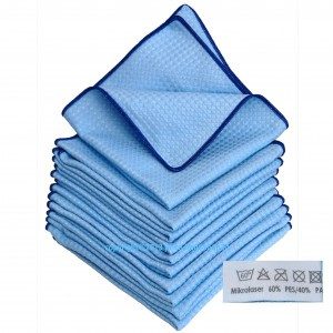 10 x Microfaser 3D Power Cloth Blau 60%PES/40%PA