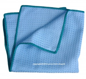 Microfaser 3D Power Cloth Tuch Blau/Grün 40x40cm