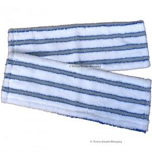 Bodenwischer Ersatzbezüge 2er Set 42 cm Blau / Weiß Microfaser