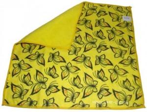 Reinigungstuch Poliertuch Gelb mit Druck 40 x 40cm Microfaser