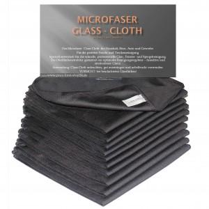 Fenstertücher Glastücher Anthrazit 300g/m² Microfaser 10er Set