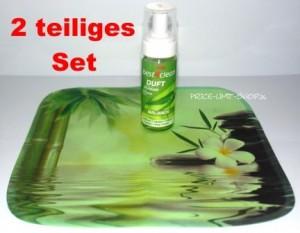 Duft Schaumreiniger Set Balance incl. Spezial Microfaser Reinigungstuch mit Volldruck