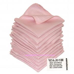 10 x Microfaser 3 D Power Cloth Rosè 50% PES 50%PA