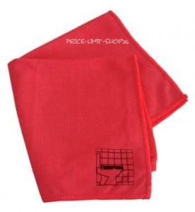 Noppentuch Rot mit Piktogramm Microfaser
