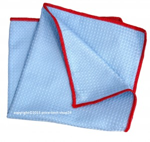 Microfaser 3D Power Cloth Tuch Blau/Rot 40x40cm