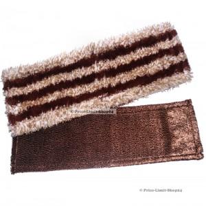 Bodenwischbezüge 2er Set Microfaser 42 cm Braun