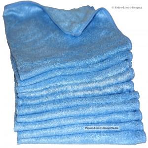10 x Microfaser Stretch Universaltücher, 280g/m², Farbe Blau