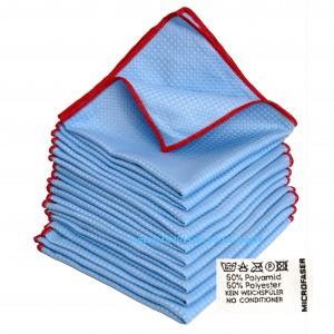 10 x Microfaser 3D Power Cloth Blau / Rot